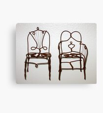 Wire Chairs Canvas Print