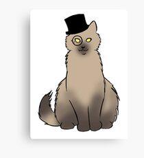 Tophat Cat Canvas Print