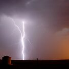 Goondiwindi Sunset Lightning 2 by Michael Bath