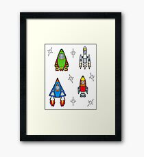 Rocket ships Framed Print