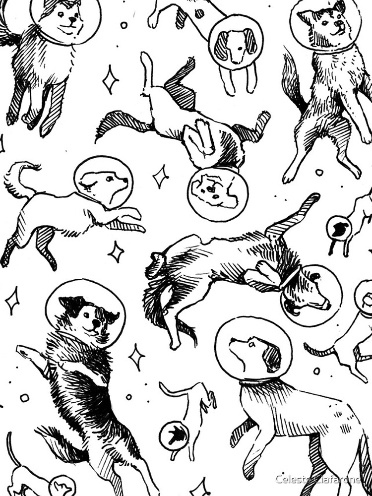 Space dogs by celestecia