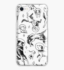 Space dogs iPhone Case/Skin