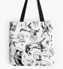 Space dogs Tote Bag