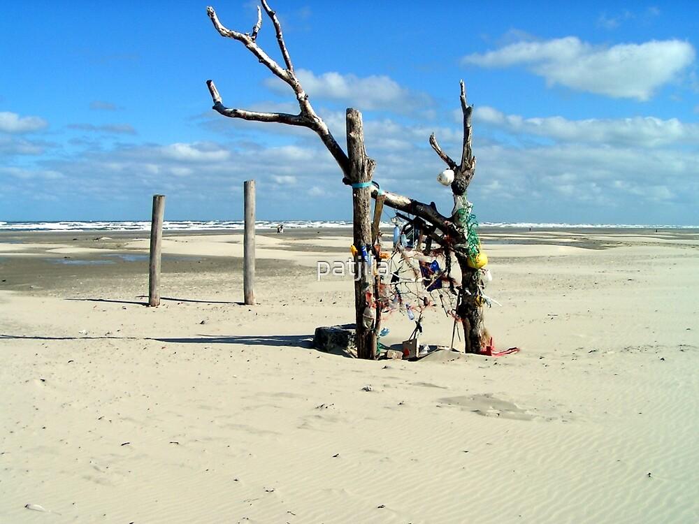 Temporary available art on beach by patjila