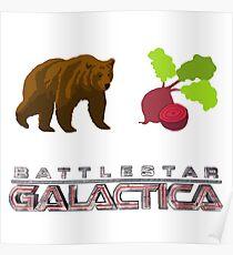 Bears Beats Battlestar Galactica Poster