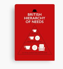 British Hierarchy of needs Canvas Print