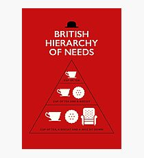 British Hierarchy of needs Photographic Print