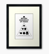 British Hierarchy of needs - White Framed Print