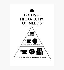 British Hierarchy of needs - White Photographic Print