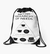British Hierarchy of needs - White Drawstring Bag