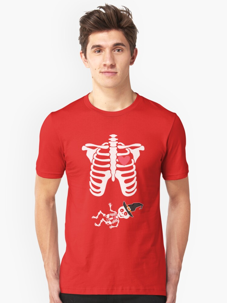 Skeleton Halloween. Great Gifts For Kids At Outdoor Party  Unisex T-Shirt Front