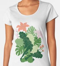 Bharadvaja's Twist with flowers and leaves Women's Premium T-Shirt
