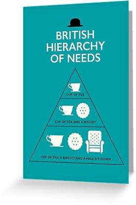 British hierarchy of needs blue greeting cards by stephen wildish british hierarchy of needs blue by stephen wildish m4hsunfo