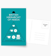 British Hierarchy of Needs - Blue Postcards