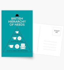 Postales Jerarquía Británica de Necesidades - Azul