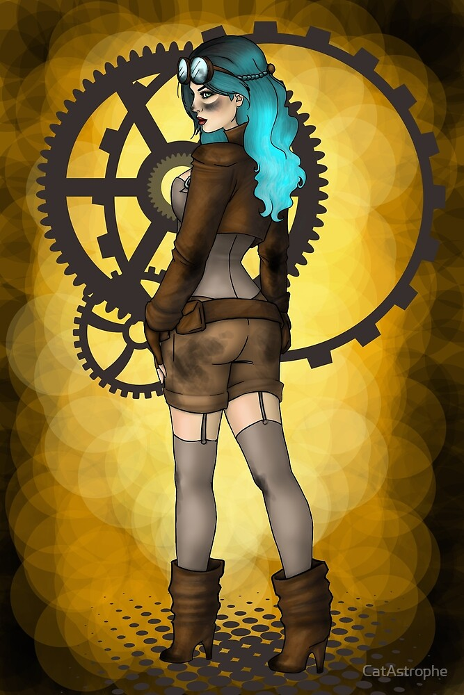 Steampunk Pinup by CatAstrophe