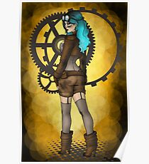 Steampunk Pinup Poster
