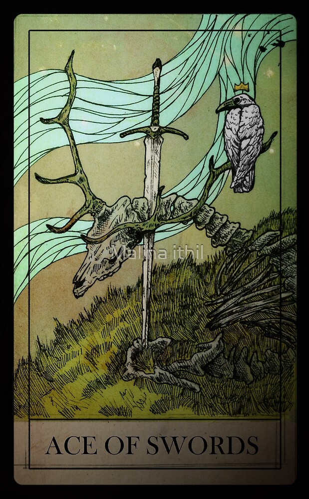TAROT DECK - ACE OF SWORDS by Malina ithil