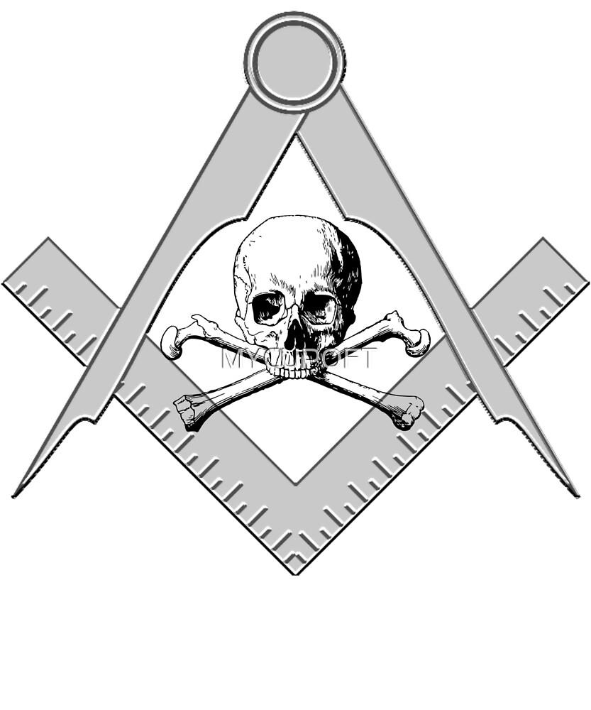 Freemason Skull & Crossbones Symbol Masonic Rite T-Shirt by MYCUPOFT