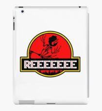 Jurassic Reeeeee Pepe Frog Park Parody Design iPad Case/Skin