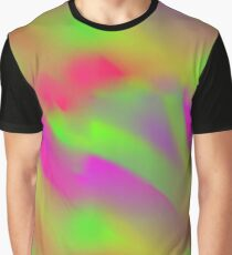Green and Pink Hippie Abstract Texture  Graphic T-Shirt