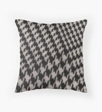 Houndstooth pattern Throw Pillow