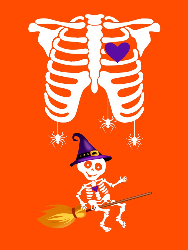 Witch Broom Halloween. Funny Halloween Gifts For Kids by phungngocquynh