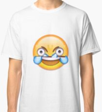 Open Eye Crying Laughing Emoji Classic T-Shirt