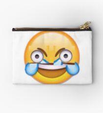 Open Eye Crying Laughing Emoji Studio Pouch