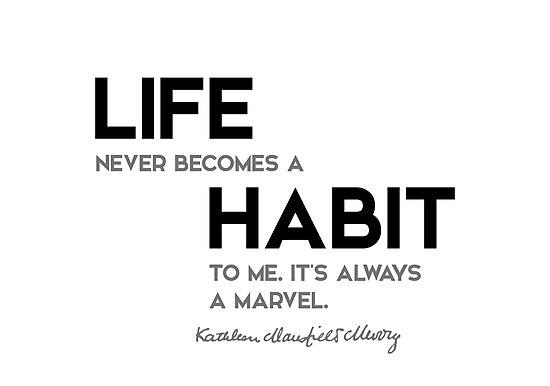 life habit - katherine mansfield by razvandrc