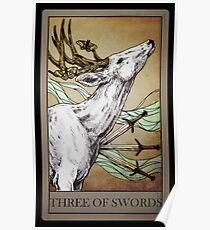 TAROT: THREE OF SWORDS Poster