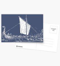 Viking Motive > Viking Boat > Long Boat Postcards