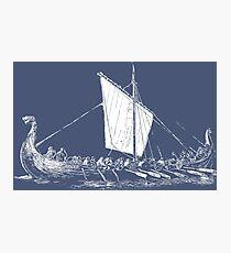 Viking Motive > Viking Boat > Long Boat Fotodruck