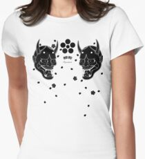 black hannya and cherry blossoms T-Shirt