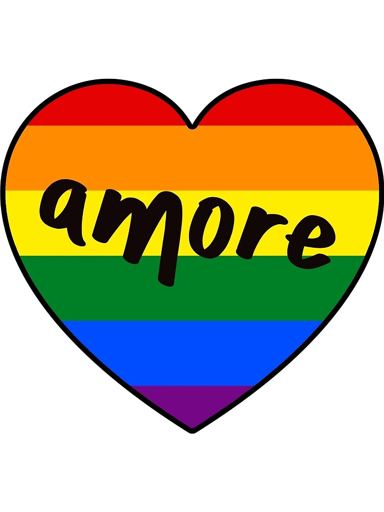 Gay Pride Amore Heart by tomgscott