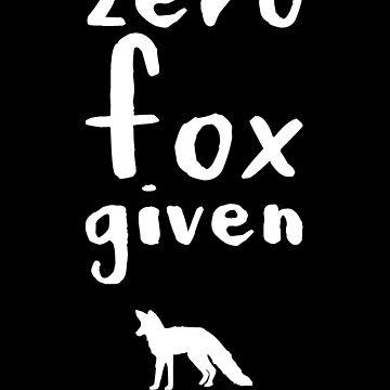 Zero fox given by alexmichel91