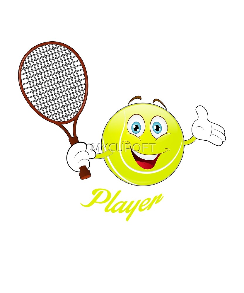 Funny Tennis Player League Emoji Gift T-Shirt by MYCUPOFT