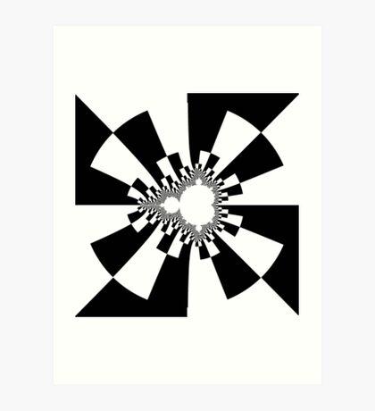 Mandelbrot XV - Black Art Print