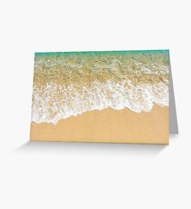 sand and waves Greeting Card