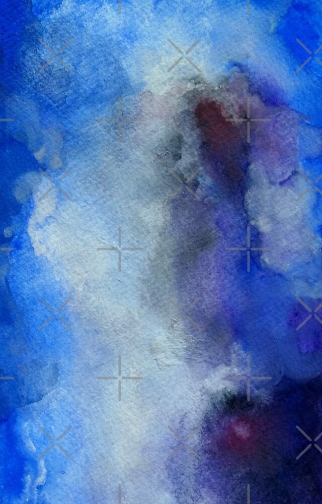 Blue Watercolor Art by Manitarka