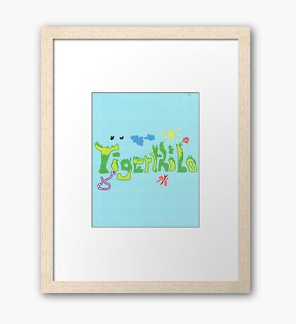 2313 - Tigerthilo Design Green Grass Style Framed Print