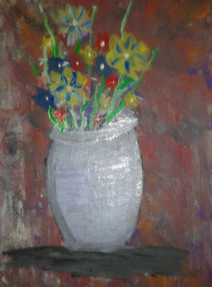 A vase of flowers by Eric Johnson