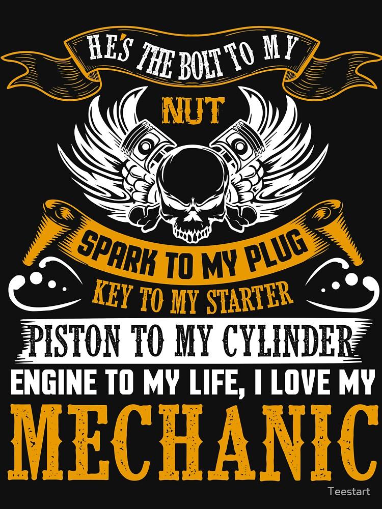 I Love My Mechanic T Shirt by Teestart