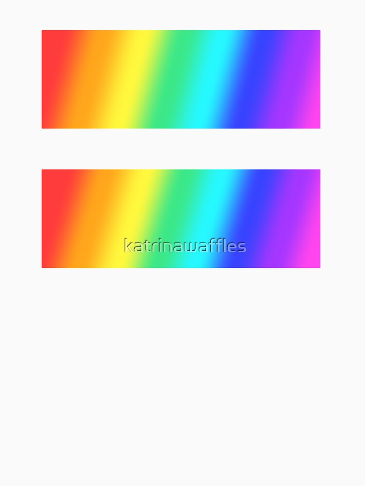 rainbow equal sign symbol by katrinawaffles