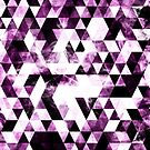 Triangle Geometric Vibrant Pink Smoky Galaxy by PLdesign