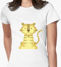 animals set - tiger Women's Fitted T-Shirt