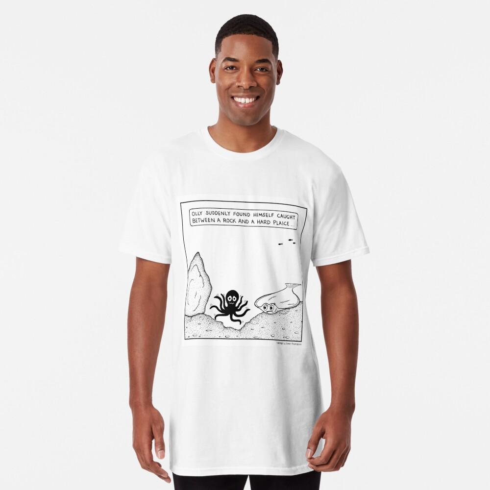 Between a rock and a hard plaice Long T-Shirt Front