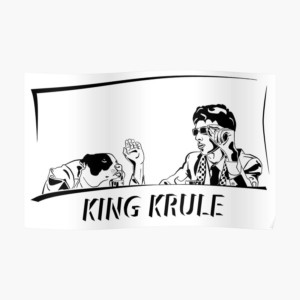 King Krule black shading   Poster