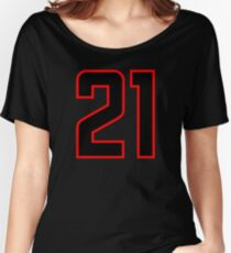 Number 21 (1-99) Women's Relaxed Fit T-Shirt