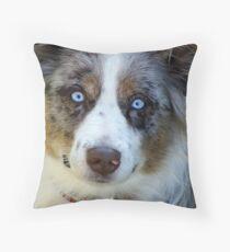 Ice Blue Eyes Throw Pillow